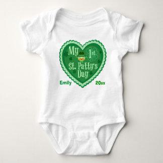 Ersten St Patrick Tageskundenspezifischer Baby Strampler