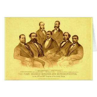 Erster Afroamerikaner-Senator u. Vertreter Karte
