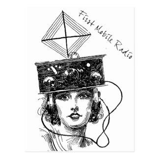 Erster beweglicher Radio Postkarten