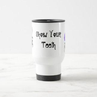 """Erster Biss heraus """"zeigen Ihre Teeth Reise-Tasse Reisebecher"""