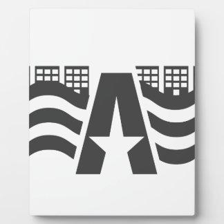Erster Buchstabe-Name - eine Stadt-Landschaft mit Fotoplatte