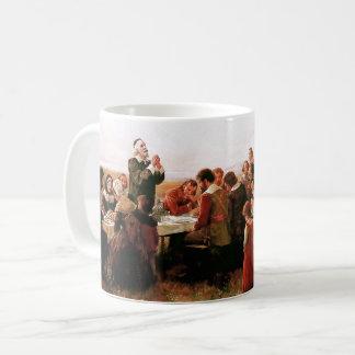 Erster Erntedank in Plymouth. Geschenk-Tasse Kaffeetasse