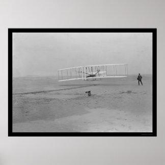 Erster Flugzeug-Flug, Kitty Hawk 1903 Plakat