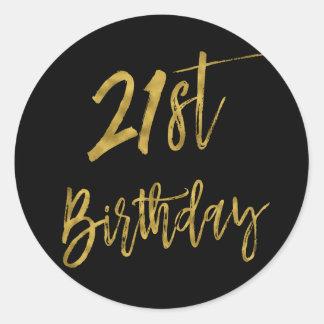 Erster Folien-Geburtstags-Aufkleber des Runder Aufkleber