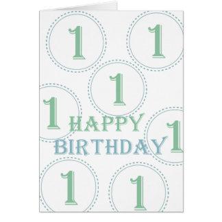 Erster Geburtstag Grußkarte