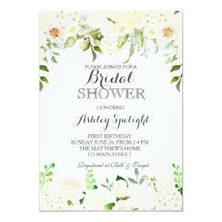 Erster Geburtstag schöne Blumensahneeinladung, 12,7 X 17,8 Cm Einladungskarte