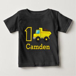 Erster Geburtstags-1. 2. 3. Bau-LKW-Auto Baby T-shirt