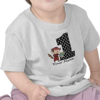 Erster Geburtstags-Jungen-Piraten-T - Shirt