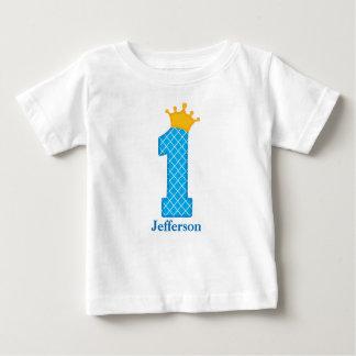 Erster Geburtstags-Prinz Tshirt Personalized