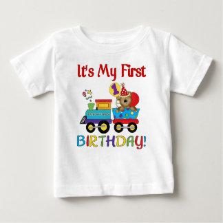 Erster Geburtstagszug des Babys Baby T-shirt
