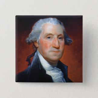 Erster Präsident: George Washington Quadratischer Button 5,1 Cm