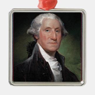 Erster Präsident: George Washington Silbernes Ornament