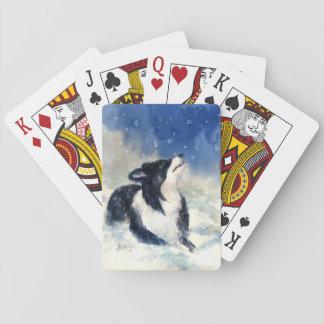 Erster Schnee Spielkarten