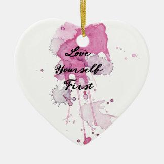 Erster Spritzer-Entwurf der Liebe-sich Keramik Herz-Ornament
