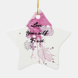 Erster Spritzer-Entwurf der Liebe-sich Keramik Stern-Ornament