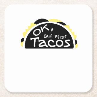 Erster Taco-lustige Fitnessworkout-Turnhalle Rechteckiger Pappuntersetzer
