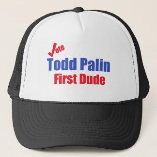 Erster Typ Todds Palin Truckerkappe