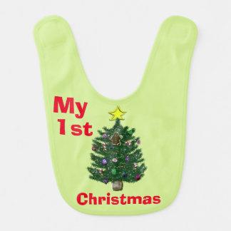 Erster Weihnachtsbaum des Babys Lätzchen