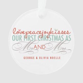 Erster Weihnachtsherr u. Frau Holiday Foto Ornament