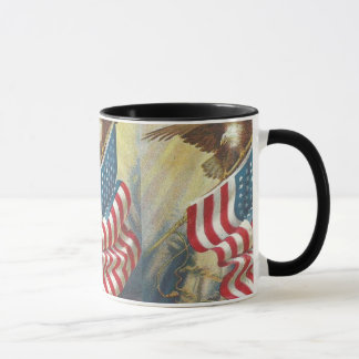 Erster Weltkrieg patriotische US-Flagge und Tasse