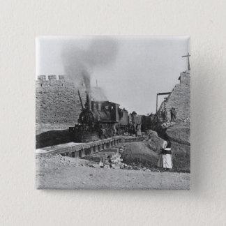 Erster Zug, der durch die Wand von Peking, Ch Quadratischer Button 5,1 Cm