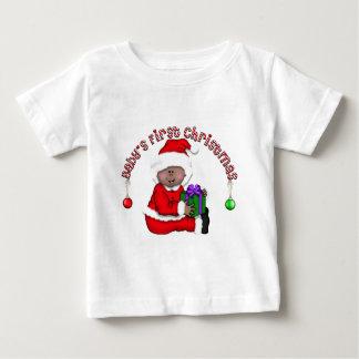 Erstes Baby Sankt (AA1) des Babys Weihnachts Baby T-shirt