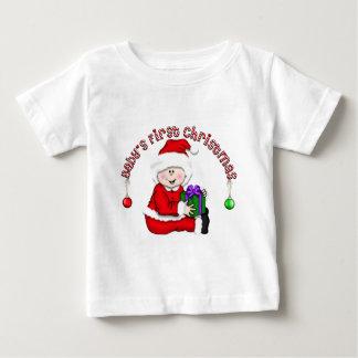 Erstes Baby Sankt (CA1) des Babys Weihnachts Baby T-shirt