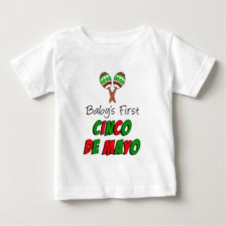 Erstes das Cinco des Babys De Mayo Baby T-shirt