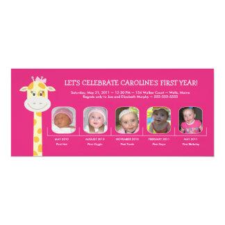Erstes der Geburtstags-Jahr des Babys 10,2 X 23,5 Cm Einladungskarte