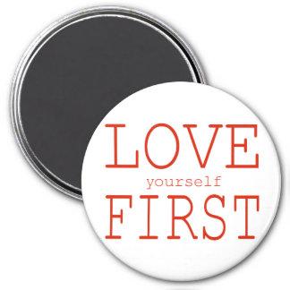 Erstes der Liebe sich Runder Magnet 7,6 Cm