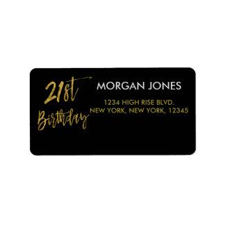 Erstes Folien-Geburtstags-Adressen-Etikett des Adressaufkleber