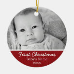 Erstes Foto des Babys Weihnachts- einseitig