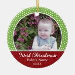 Erstes Foto des Babys Weihnachts- einseitig Ornamente