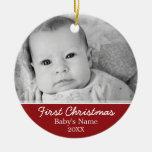 Erstes Foto des Babys Weihnachts- einseitig Ornament