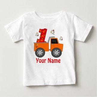 Erstes Geburtstags-Kipper-personalisiertes Shirt