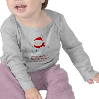Erstes Hemd des netten Schneemann-Babys Weihnachts