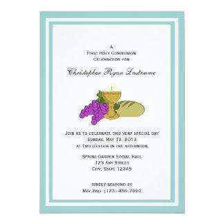 Erstes Kommunions-Brot des Lebens 12,7 X 17,8 Cm Einladungskarte
