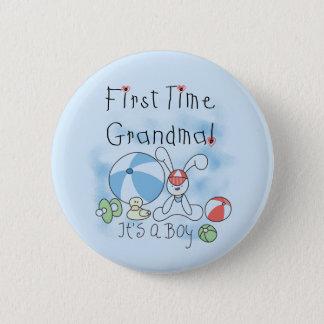 Erstes Mal-Großmutter der Jungen-T-Shirts und der Runder Button 5,1 Cm
