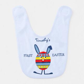 Erstes Ostern-Blau des umschaltbaren individuellen Babylätzchen