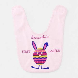 Erstes Ostern-Rosa des umschaltbaren individuellen Babylätzchen