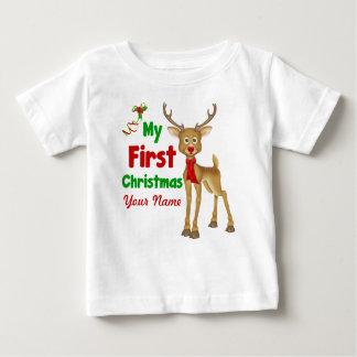 Erstes Ren des Babys Weihnachts Baby T-shirt