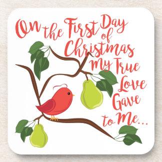 Erstes Tagesweihnachten Untersetzer