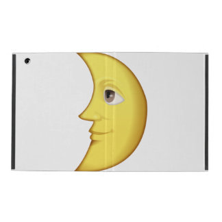 Erstes Viertel-Mond mit Gesicht - Emoji iPad Hülle