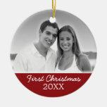 Erstes WeihnachtsFoto - einseitig Weihnachtsbaum Ornament