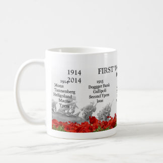 Erstes Weltkriegjahrhundert Kaffeetasse