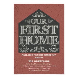 Erstes Zuhause-Haus-Erwärmungs-Party 12,7 X 17,8 Cm Einladungskarte