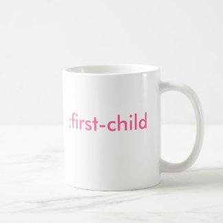: Erstkind (es ist ein Mädchen) Kaffeetasse