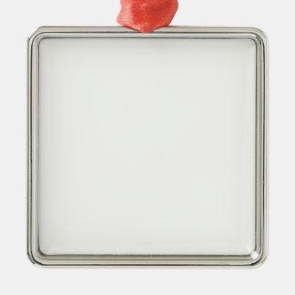 Erstklassige quadratische Verzierungen Quadratisches Silberfarbenes Ornament