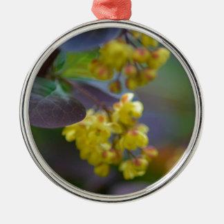 Erstklassige runde Verzierung Silbernes Ornament