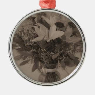 Erstklassige runde Verzierung - Vintager Blumenstr Weihnachtsbaum Ornamente